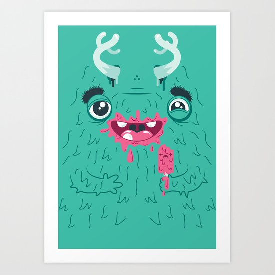 I Scream Monster Art Print