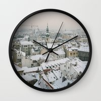 prague Wall Clocks featuring Prague by BriAnneWills