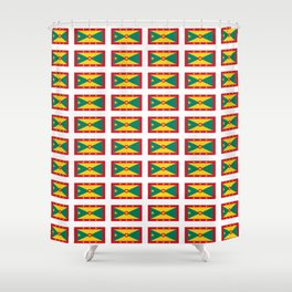 flag of grenada -grenadian,grenadines,Saint georges,grenville,Gouyave,Carriacou,nutmeg Shower Curtain