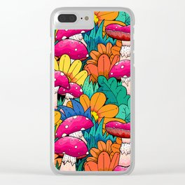 Autumn undergrowth Clear iPhone Case