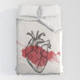 Anatomical heart - Art is Heart  Duvet Cover