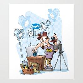 Action Figures Photographer Art Print