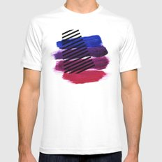Magenta Broadcast Mens Fitted Tee White SMALL
