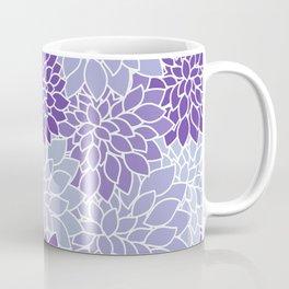 Ultra Violet Lavender Dahlias Coffee Mug