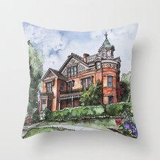 Armstrong Mansion Throw Pillow