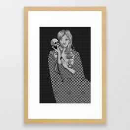 Skull & Cloak Framed Art Print