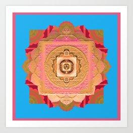 Vintage Divine Elegance Boho Bliss Mandala Print Art Print
