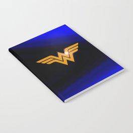 WonderWoman emblem insígnia Wonder Gold, Diana Prince, warrior princess of the Amazons Notebook