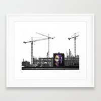kobe Framed Art Prints featuring kobe by henry