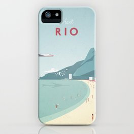 Vintage Rio Travel Poster iPhone Case