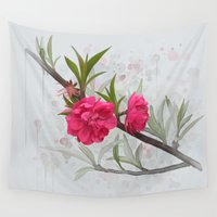 blossom Wall Tapestries featuring Blossom by IvanaW