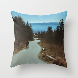Path up the Great Smoky Mountains Throw Pillow