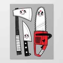 Happy Slasher Pals Canvas Print