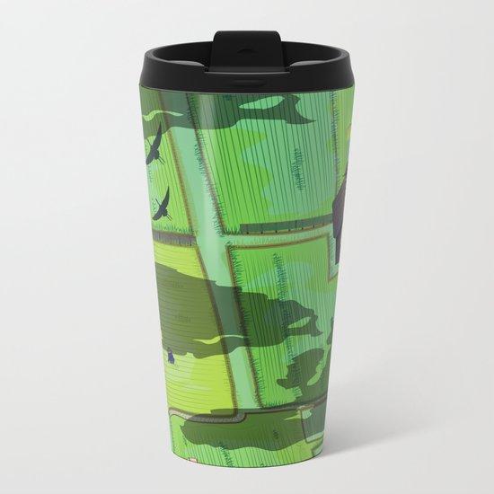 Rice paddy field Metal Travel Mug
