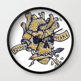 Poison Heart Wall Clock