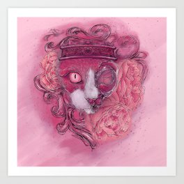 Acanthus Cat Art Print