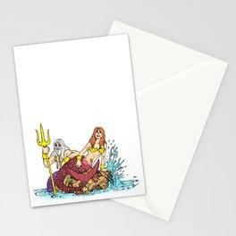 Merman & Mermaid Stationery Cards