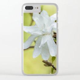Magnolia Stellata Clear iPhone Case