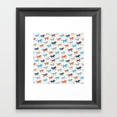 Horse Print Framed Art Print