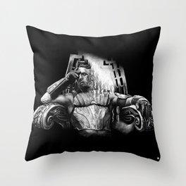 king Riddick Black Bg Throw Pillow