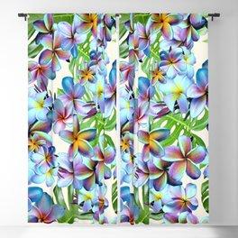 Rainbow Plumeria Pattern Blackout Curtain