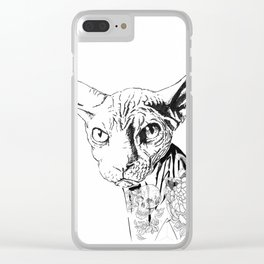 Tattoo Cat Clear iPhone Case