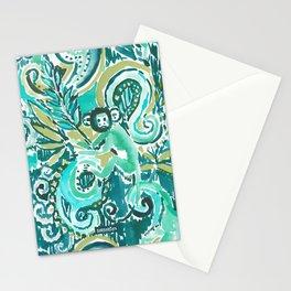 MONKEY TRICKSTER - JADE Stationery Cards