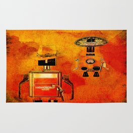 The duel of robots Rug