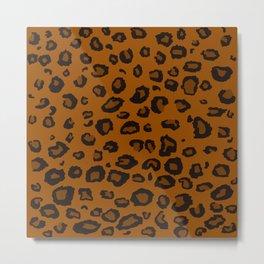 Dark Leopard Metal Print