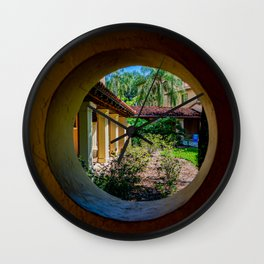 Circular Window In the Corrin Hall Loggia Rollins College Winter Park Central Florida Orlando Wall Clock