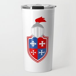 Helm Logo Castle Lover Great gift idea for every knight and Fairy tale fan for birthday T-shirt Travel Mug