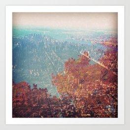 Fall Meets Manhattan. Art Print