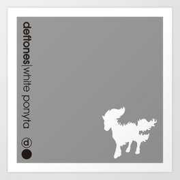 White Ponyta Art Print