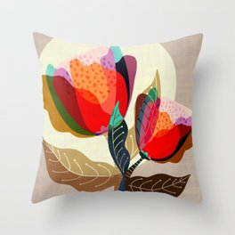 Floral Reverie no2 Throw Pillow
