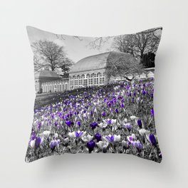Early Spring At Sheffield Botanical Gardens  Throw Pillow