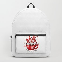 Merry Christmas Cup of Garden Gnomes Backpack
