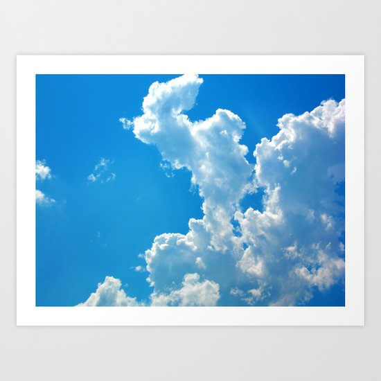 Blue Cloud Art Print