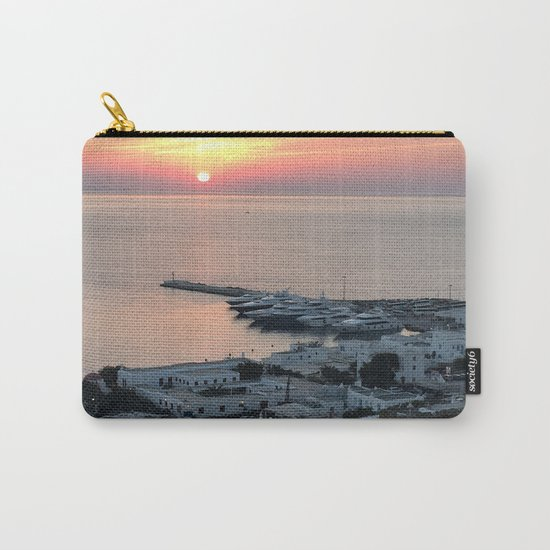 Sunset, Myconos Island, Greece Carry-All Pouch