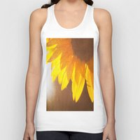 sunflower Tank Tops featuring Sunflower by Maite Pons