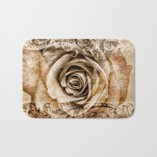 Sepia Bloom Bath Mat