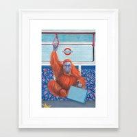 frank underwood Framed Art Prints featuring Frank by Sarah Underwood Illustration