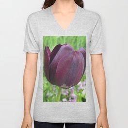 451 - Purple Tulip Unisex V-Neck