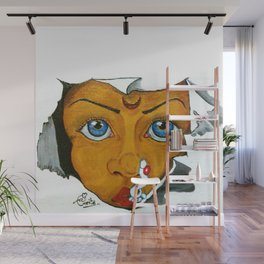 01PA11 | Marathi Woman | Beauty | Indian Woman | Abstract Painting | Artist Amiee Wall Mural