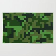 Green Jungle Army Camo pattern Rug
