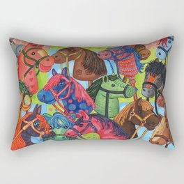 Happy Hobby-Horses Rectangular Pillow