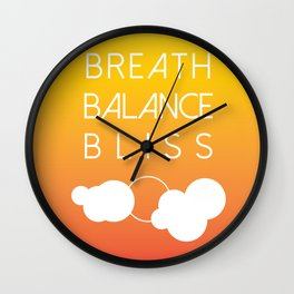 BREATH BALANCE BLISS Wall Clock
