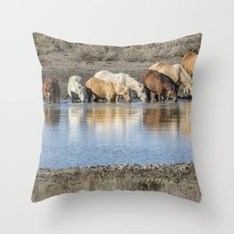 Bachelor Band at the Waterhole Throw Pillow