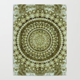 Boho Matcha Mandala Poster