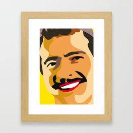 happy farmer Framed Art Print