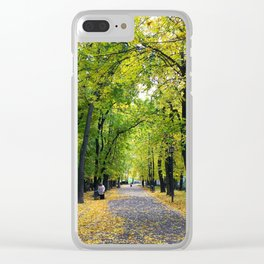 The yellow fall Clear iPhone Case